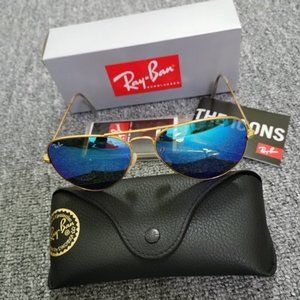 Ray-Ban Sunglasses RB3025 Blue/Gold 58 mm
